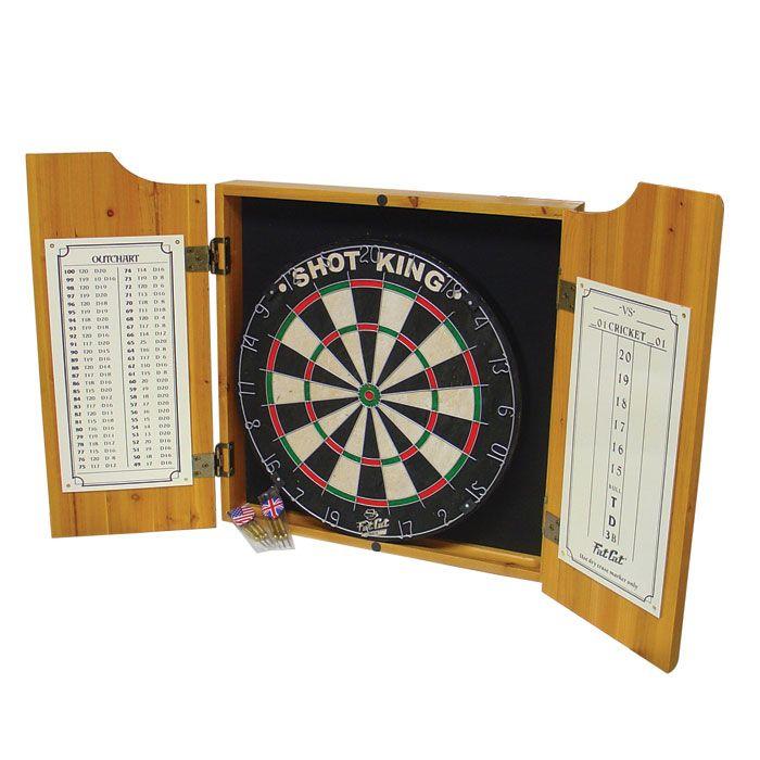 Trademark Games Las Vegas Bristle Dartboard Cabinet Set With Two Sets Of  Darts