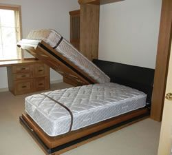 2 twins become a king murphy beds murphy bed bed bed wall. Black Bedroom Furniture Sets. Home Design Ideas