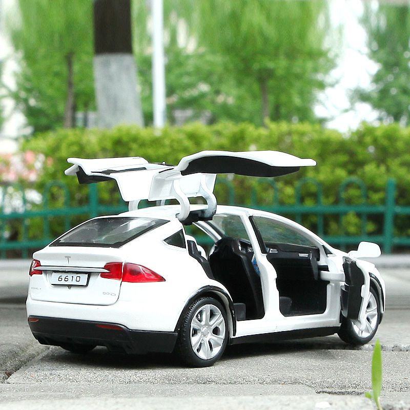 1:32 Tesla Model X 90D SUV Diecast Model Car Toy Sound/&Light Collection White