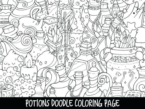 Coloring Pages Potions Doodle Page Printable Cute For Kids And Adults To Print Free Doodle Coloring Coloring Pages Cute Doodles