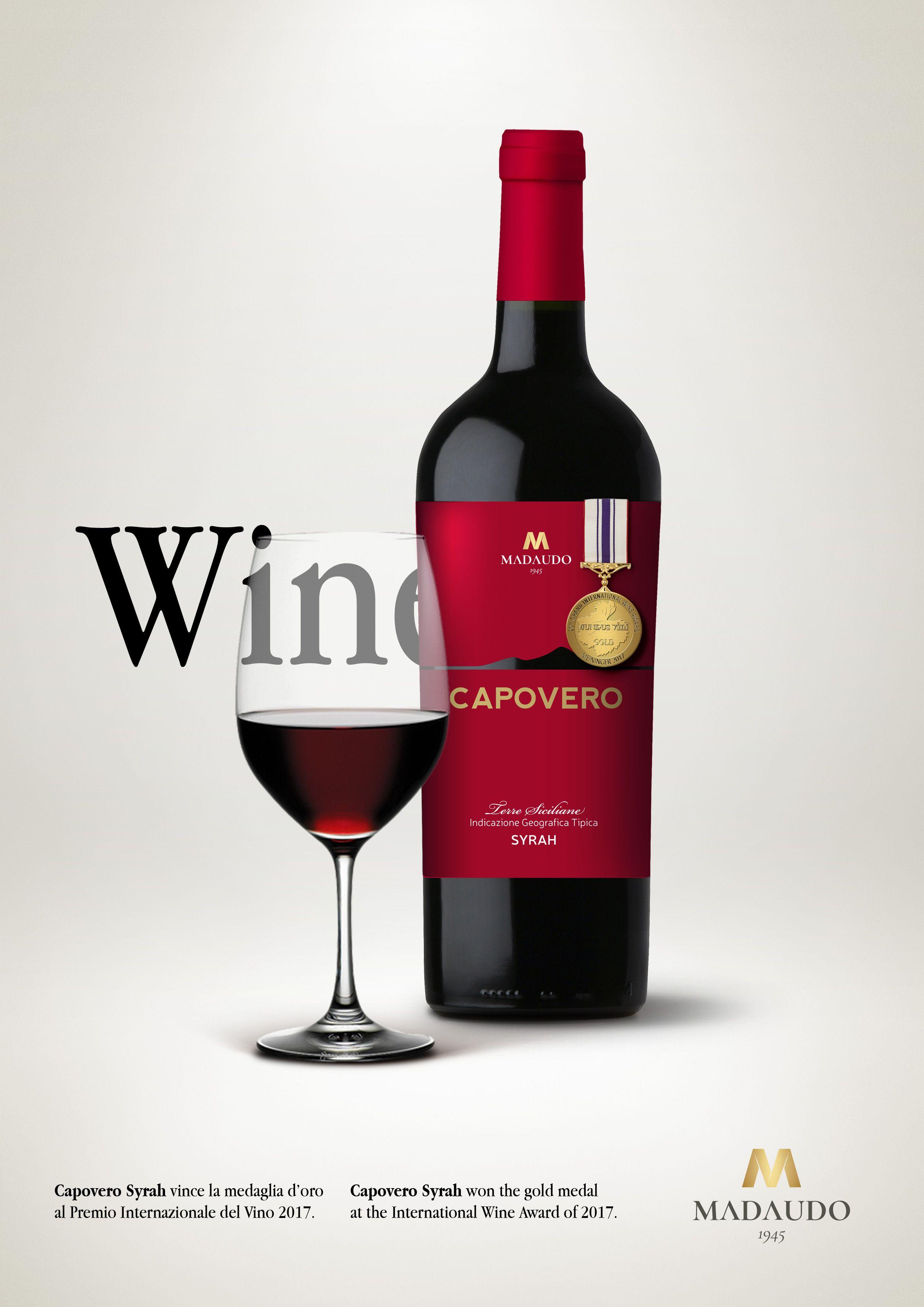 Capovero Wine Brand Gold Medal Adv Vino Oro