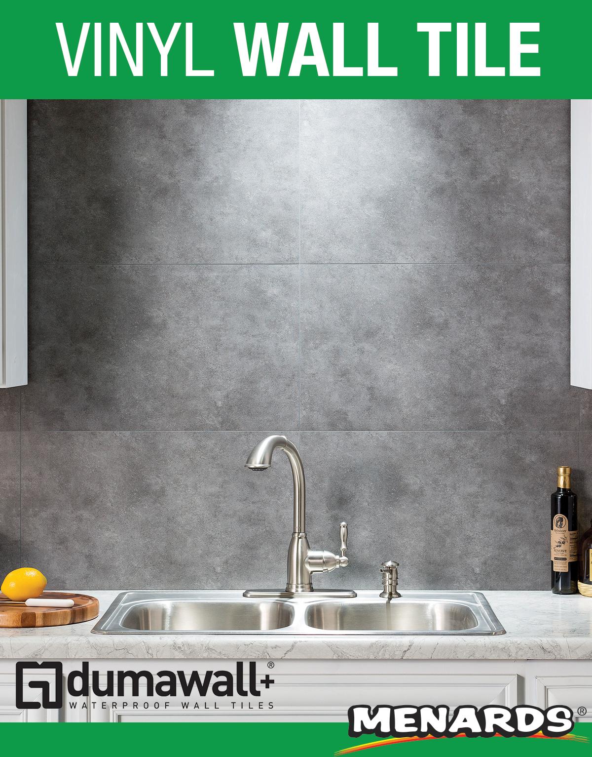 Dumawall Smoked Steel Vinyl Wall Tile 8 Pack In 2020 Stick On Tiles Vinyl Wall Tiles Peel And Stick Tile