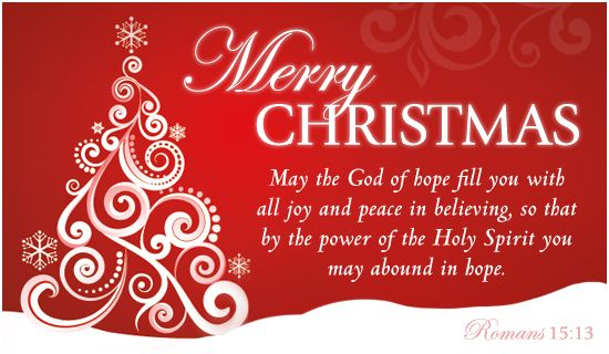 The 45 Best Inspirational Merry Christmas Quotes Of All: Merry Christmas. May The God Of Hope Fill You With All Joy