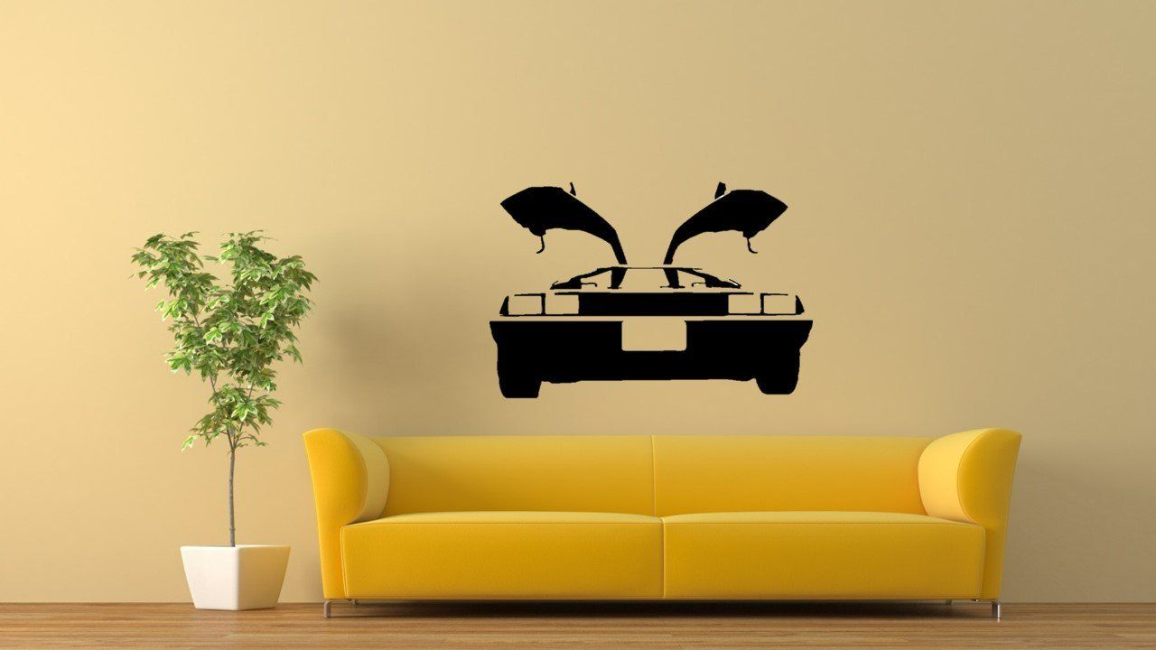 BACK TO THE FUTURE DELOREAN Wall Art Mural Sticker Decal FREE P&P ...