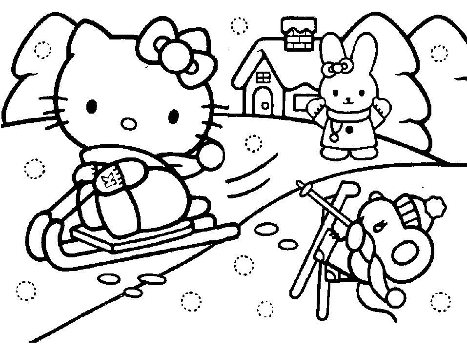 Adorables dibujos para pintar de Hello Kitty  Haizea  Pinterest