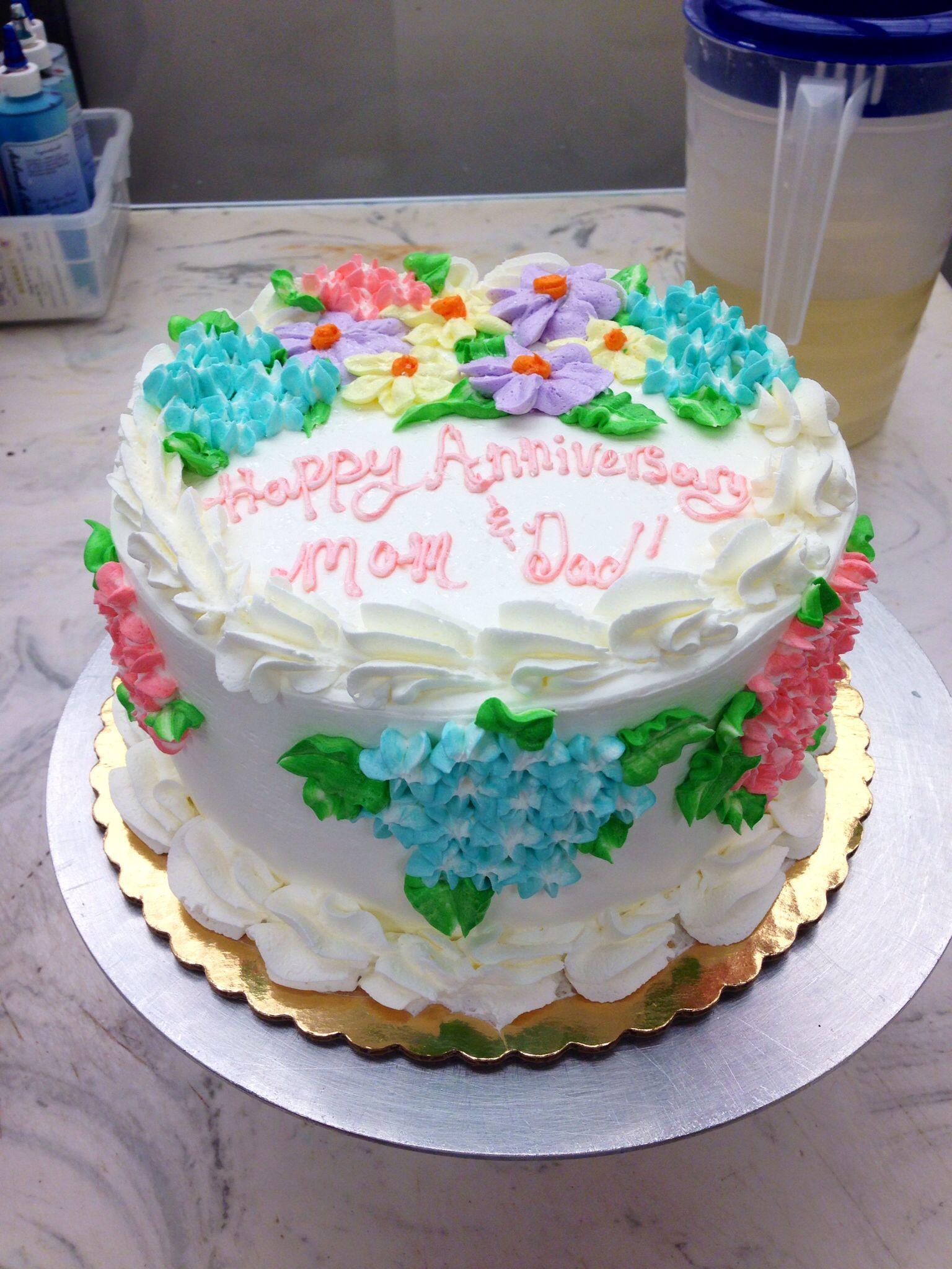 Publix Cake With Hydrangeas