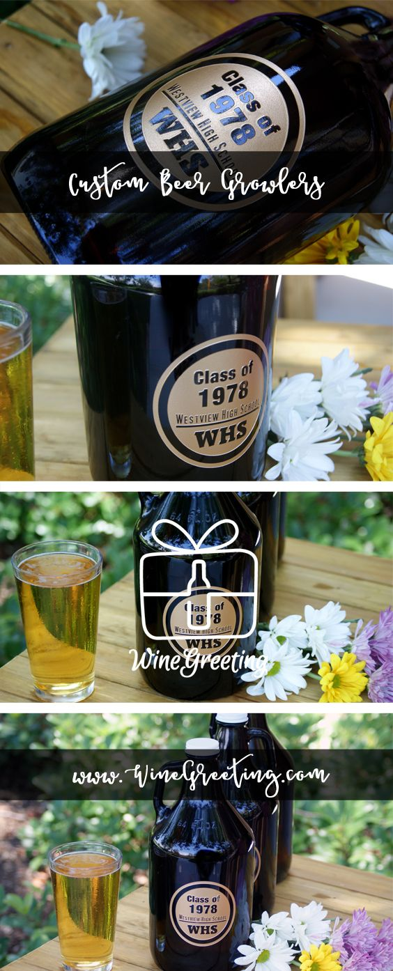 etched growlers personalized beer growler class reunion gift custom