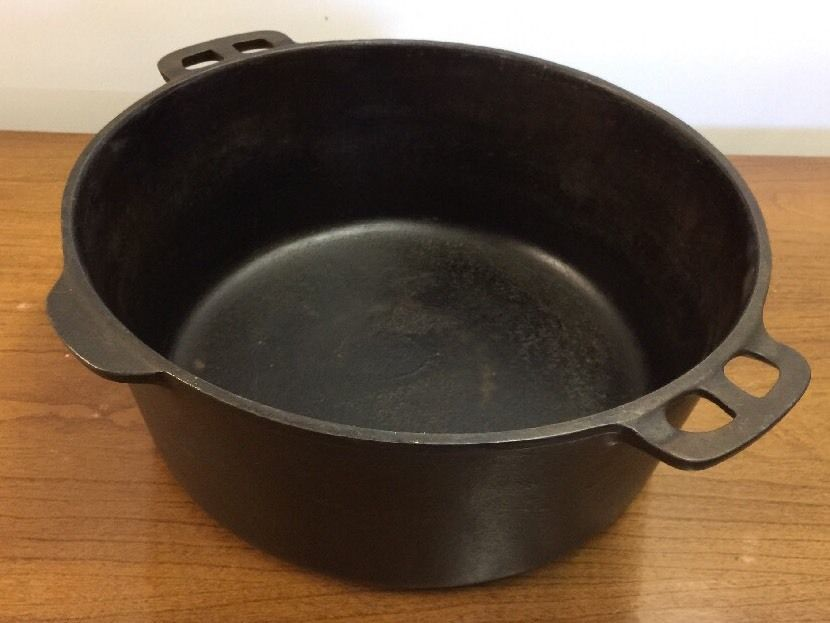 Wagner Ware Cast Iron Sidney O 10 Pot Dutch Oven Roaster 1268 J
