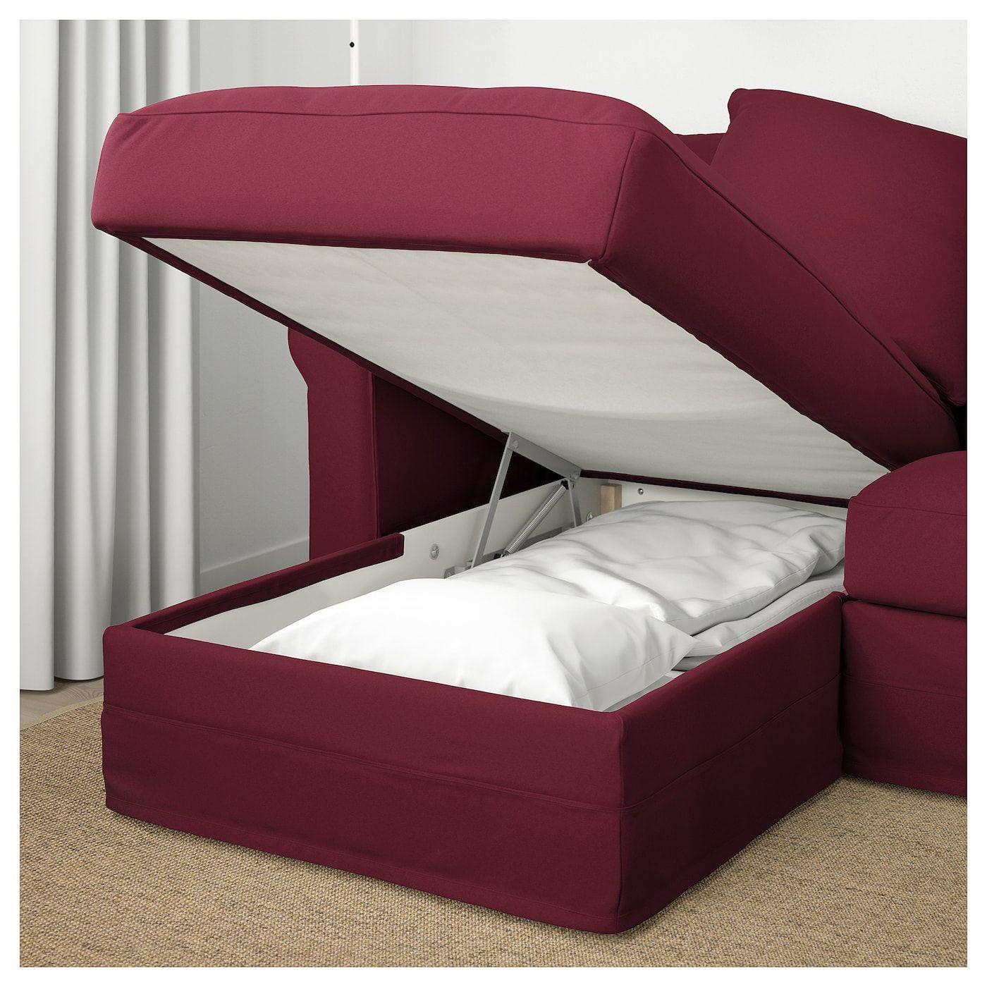 3er sofa gr nlid mit r camiere ljungen dunkelrot home sofa rh pinterest com