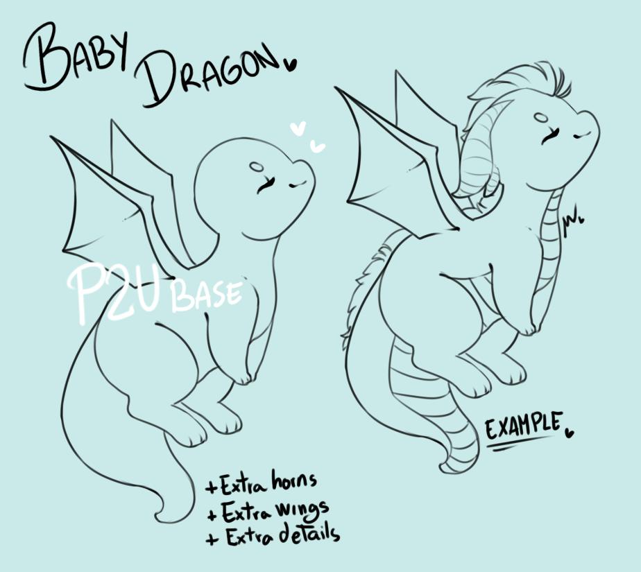 Baby Dragon Base P2u 70p By Https Www Deviantart Com Wiviadopts On Deviantart Baby Dragons Drawing Dragon Base My Little Pony Drawing