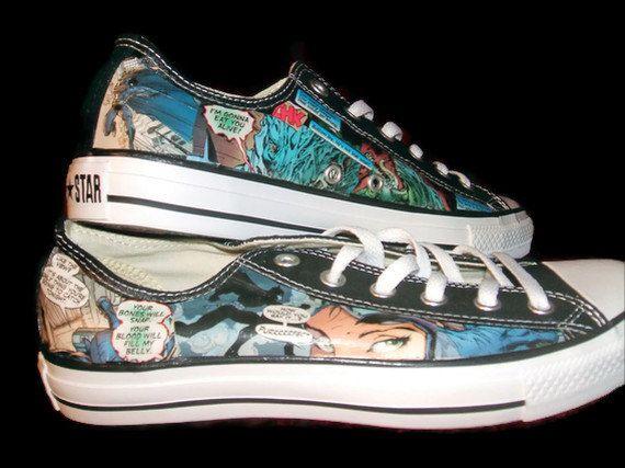 c78f7fbad5b8 Batman Hush - Marvel Comic Book Shoes - Converse Authentic Chuck Taylor  AllStars - Geekery. via Etsy.