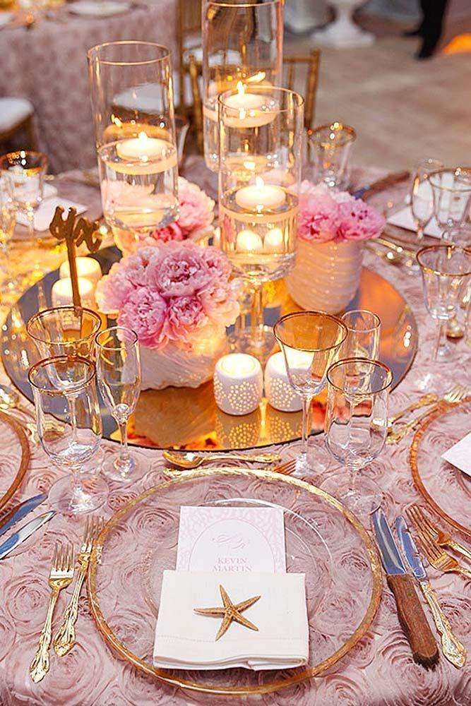 39 Beach Wedding Decoration Ideas Gold beach