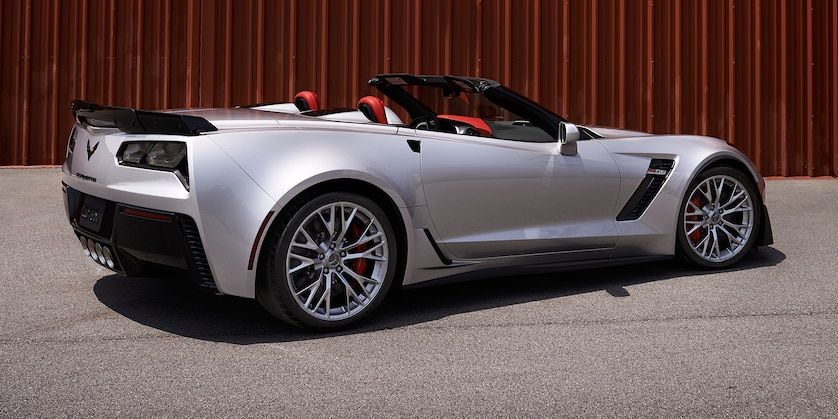 2019 Corvette Convertible Z06 Exterior Photo Back Blade