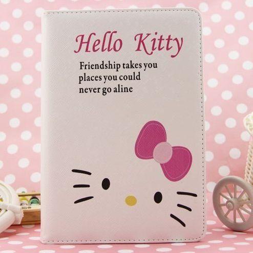 Hello Kitty Cute Leather Case for Apple iPad mini (WHITE)