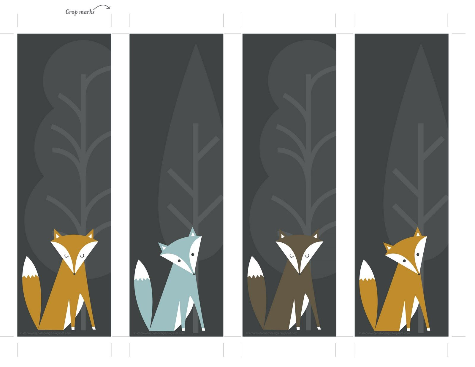 I\'ve made some fox bookmarks for download, because I know how much ...