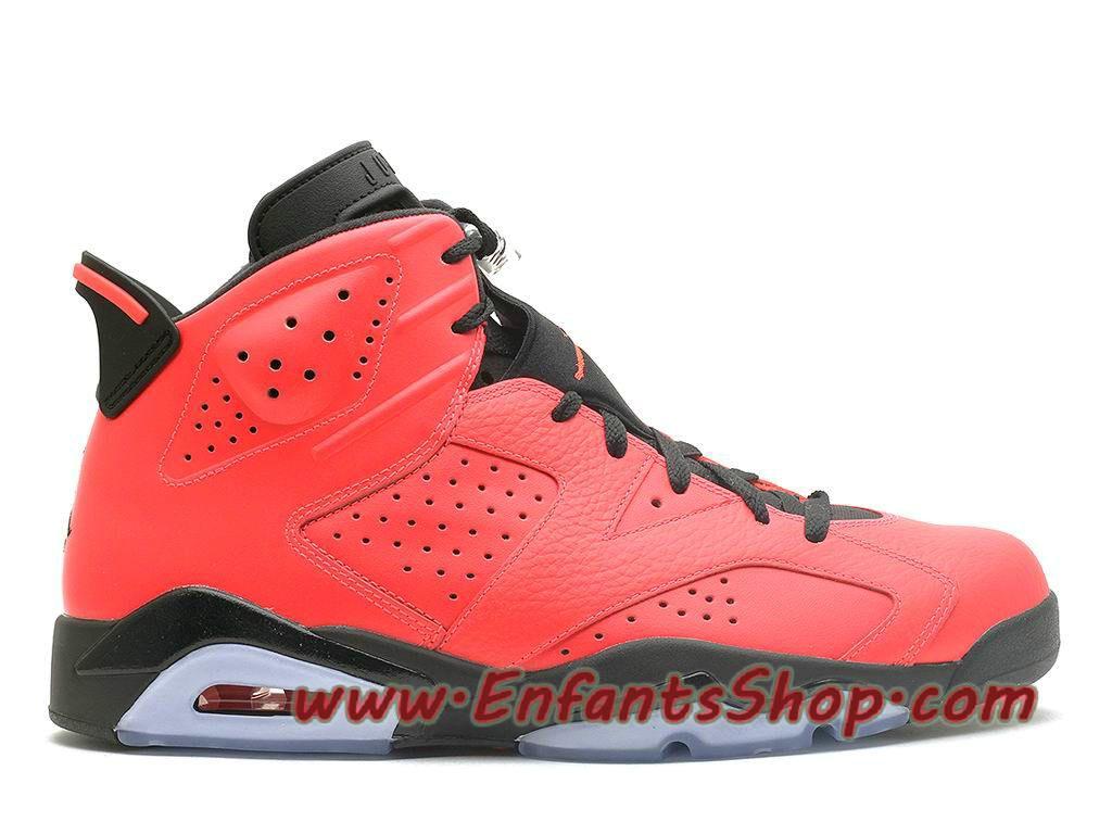 Air Jordan 6 Retro Chaussures Jordan Basket Pas Cher Pour Homme Noir  Infrared 23 384664-