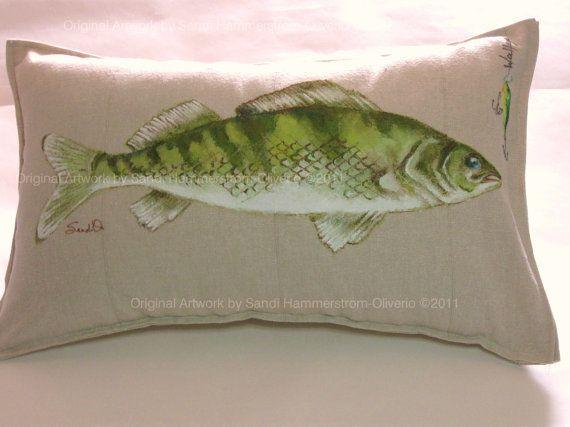 Fish Pillow Sham Decorative Pillow Cottage By