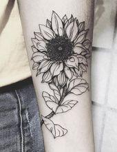 sketchy sunflower tattoo – Google Search – Design tattos