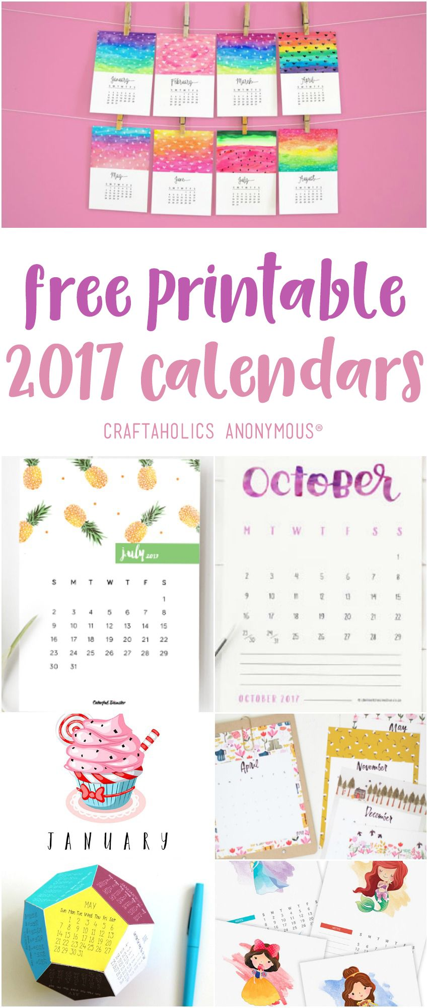 Printable free 2017 Calendar | Towels, Calendar and For sale