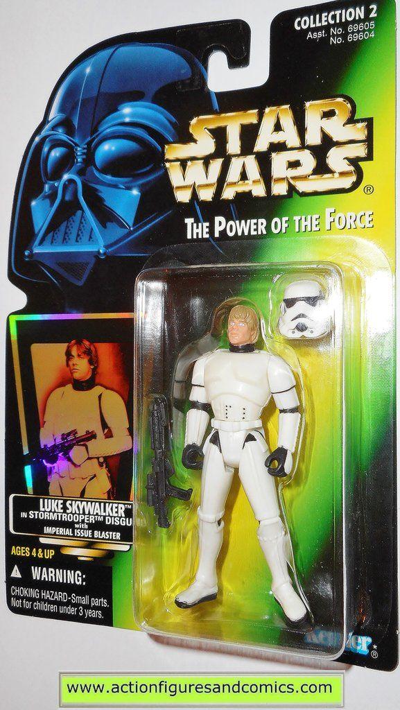 Star Wars Luke in Stormtrooper Disguise Green Card Action Figure Kenner 69604