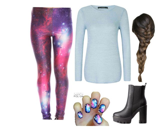 """""""Galaxy"""" by gerrijohnson ❤ liked on Polyvore featuring мода, Oui и Charlotte Russe"""