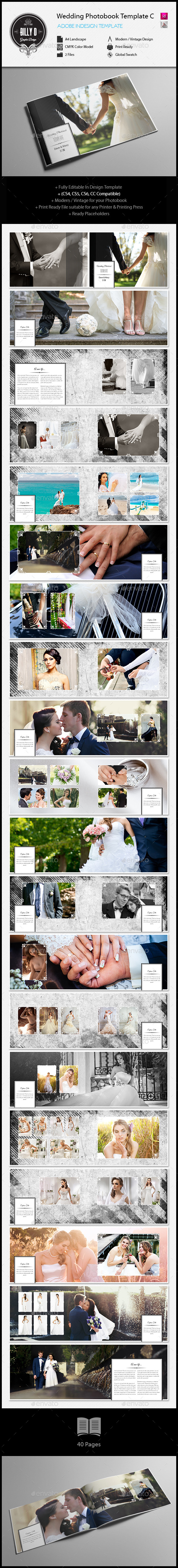 Wedding Photobook Template C | Template, Wedding and Layout design