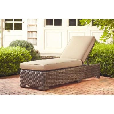 Brown Jordan Northshore Patio Chaise Lounge In Harvest Quick