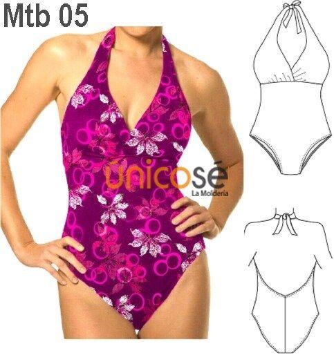 e87a97f0886a patron ropa intima y bañador damas | Vestidos de baño enterizo, Patrón de  traje de baño y Trajes…