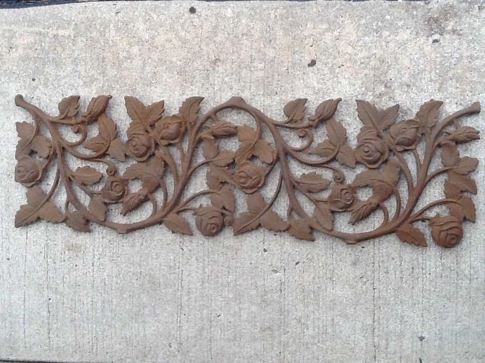 Cast Iron Steel Leaves Deco