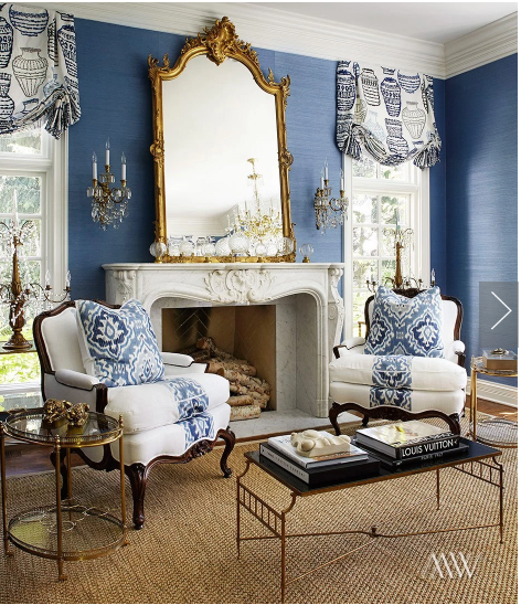 Designer To Know Megan Winters Blue, white living room