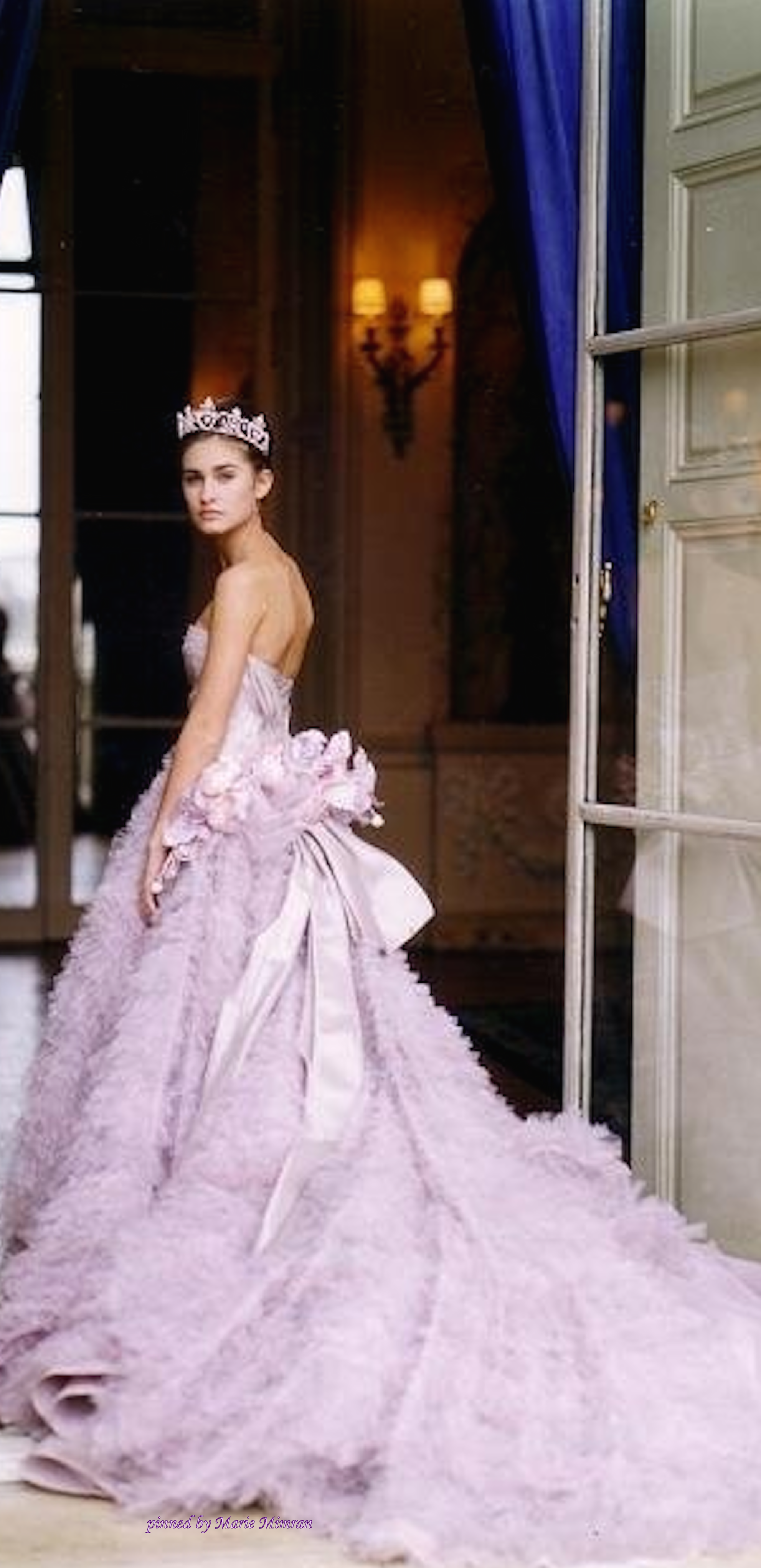 Lauren Bush in Dior Haute Couture at the Crillon Ball in paris ...