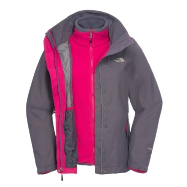 e4c908c2a1 The North Face Womens Evolution II Triclimate Jacket - Greystone Blue