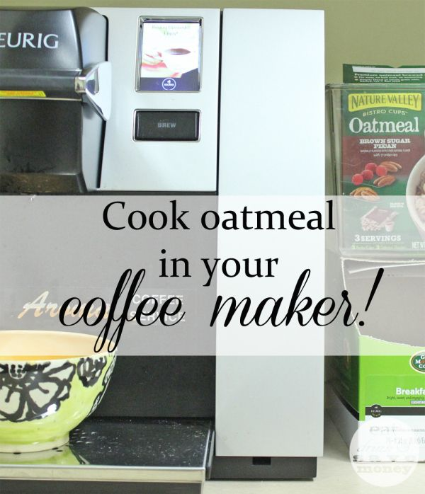 Cook oatmeal in your coffee maker! Learn how to brew your breakfast.
