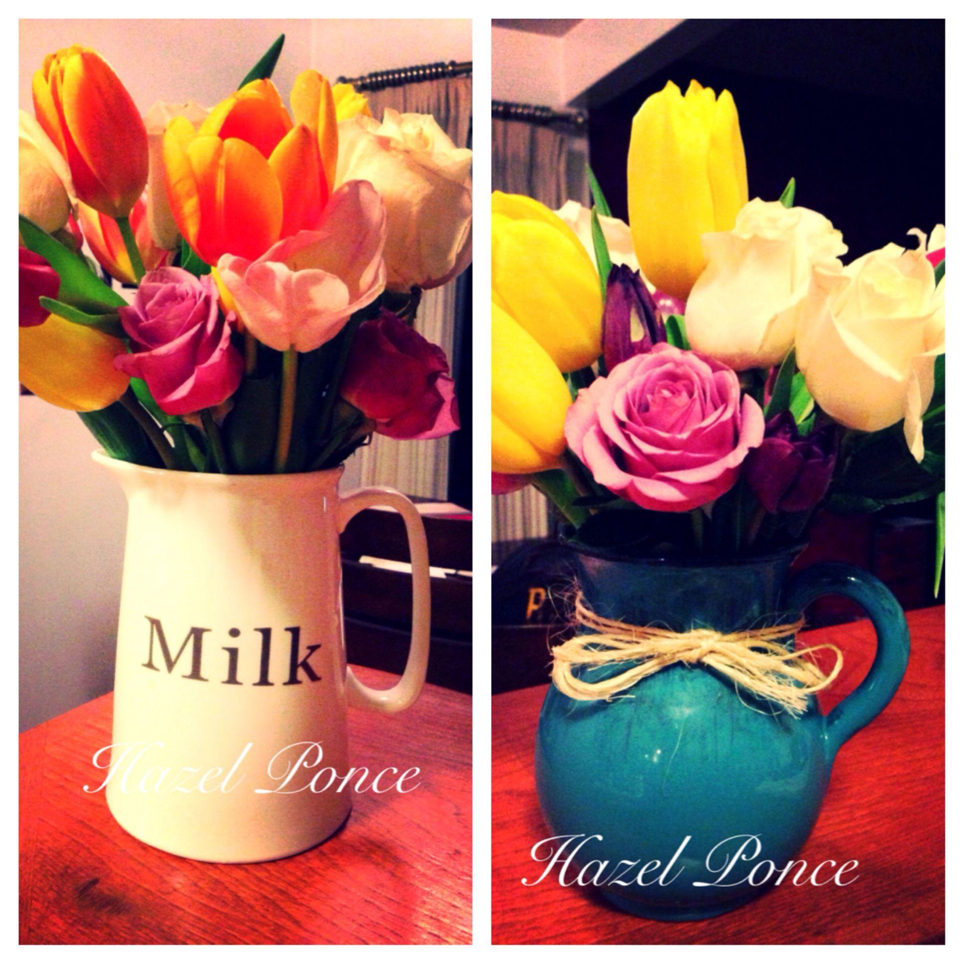 DIY Tulips & Roses