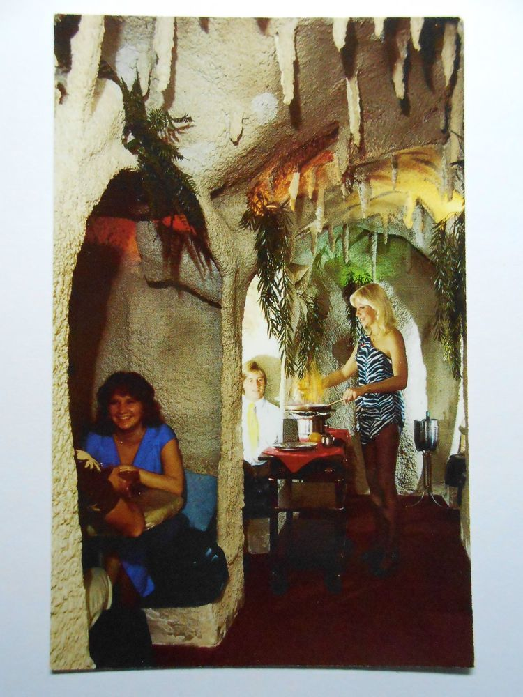 POSTCARD VINTAGE THE CAVES RESTAURANT FORT LAUDERDALE FLORIDA ...