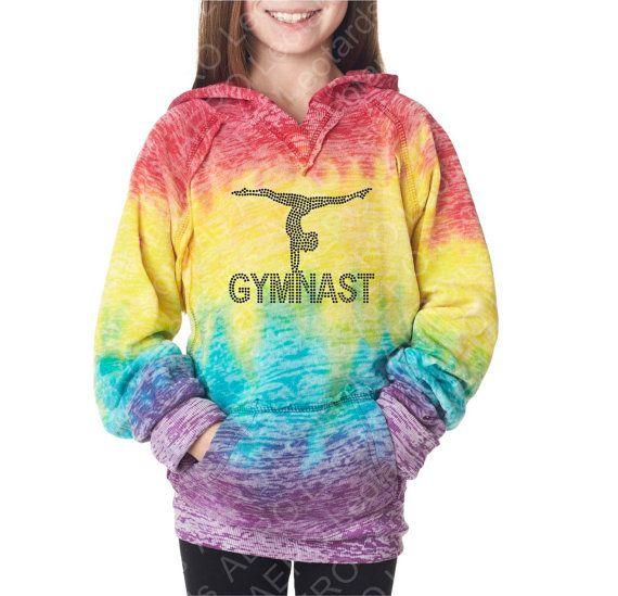 Gymnastics hoodie with gymnast balance in heart glitter pullover glitter gymnastics top kids clothing, gymnastics clothing girls hoodie