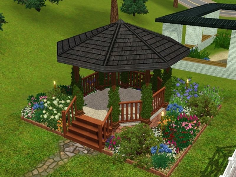 Building and adding landscaping to a gazebo psychedelicsim designs building and adding landscaping to a gazebo psychedelicsim designs in sims 3 landscaping ideas sisterspd