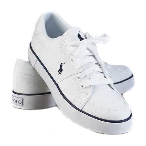 Polo Ralph Lauren Mens Classic Canvas Sneaker White