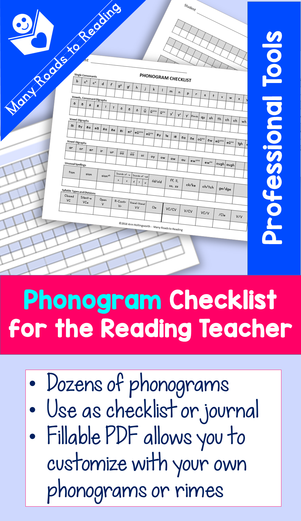 Phonogram Checklist for the Reading Tutor {Professional Tools}