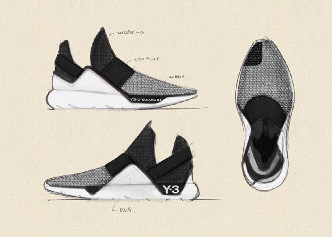 new adidas shoes y3 clothing technical sketch vs artistic sketch