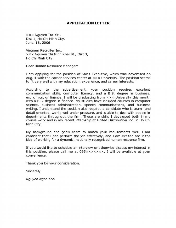Application Letter It
