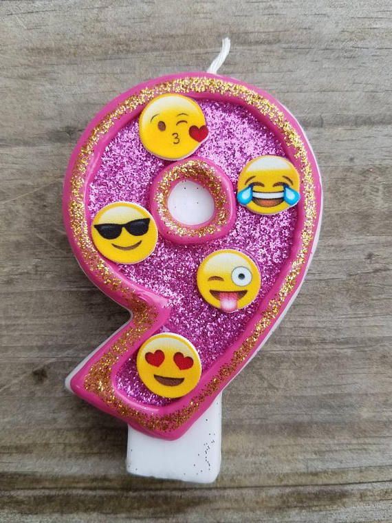 This Listing Is For A Emoji Birthday Candle In Your Choice Of Number Each