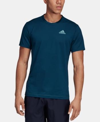 best sneakers 1389b a2b90 adidas Mens Parley Tennis T-Shirt - Blue M