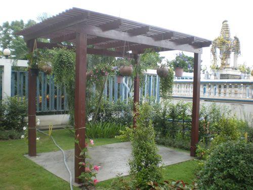9 ideas de p rgolas para el jard n pergolas patios and for Plantas para patios
