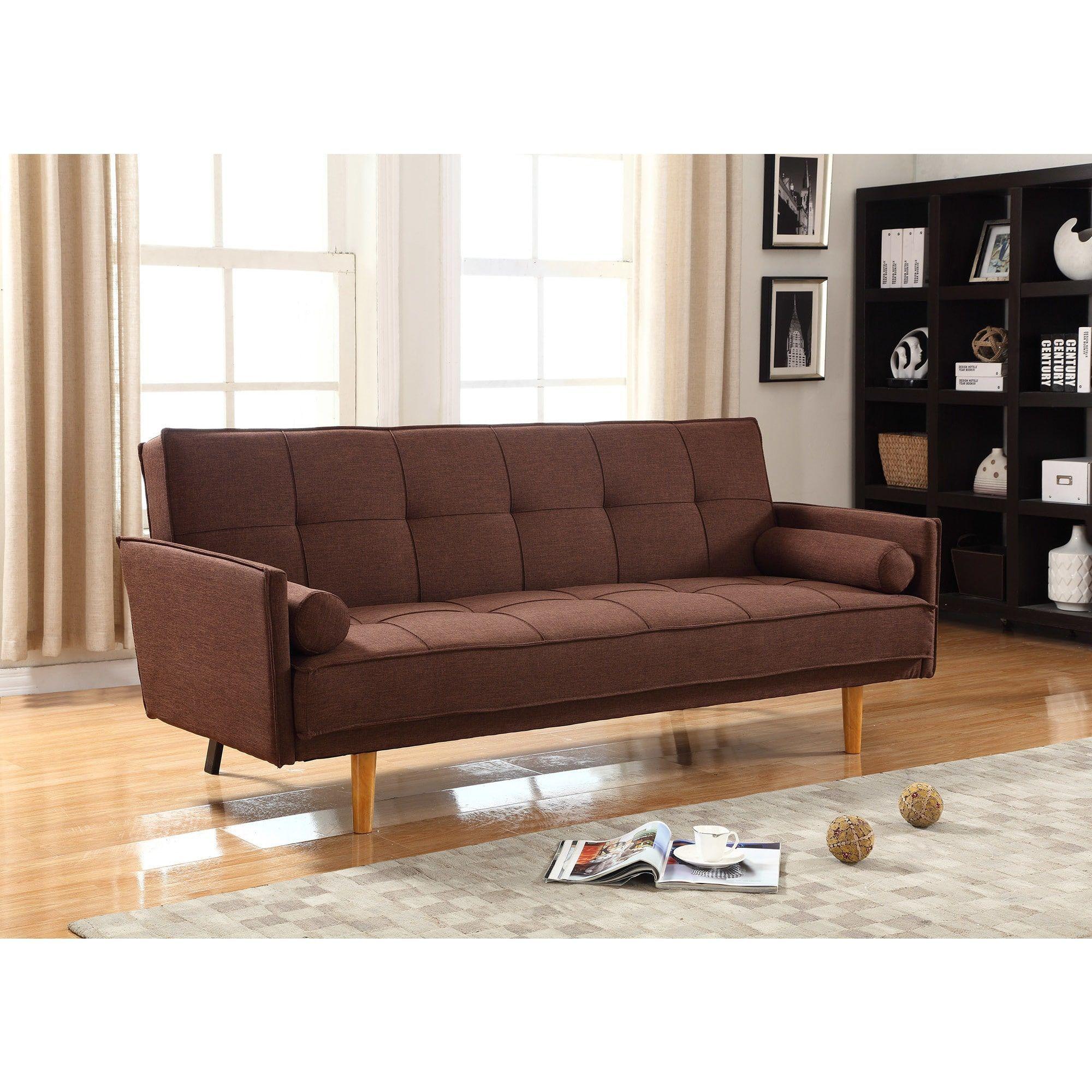 Best Master Furniture L Linen Adjustable Sofa bed Futon