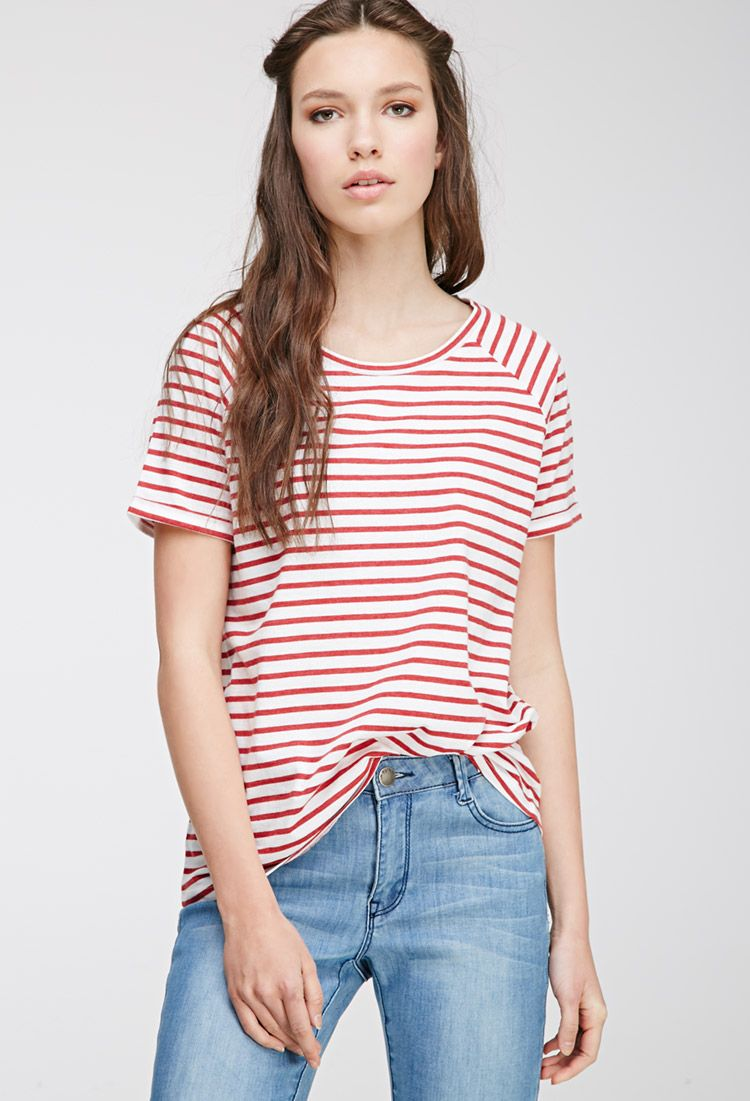 1add2fbf77 Classic Striped Tee | Forever 21 | What to wear | Striped tee, Tops ...