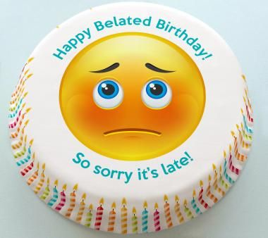 Image result for belated birthday cake images