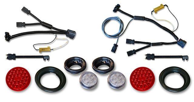 Jk Led Tail Reverse Lights With Wiring Harnesses Kit Jeep Led Lighting Poison Spyder Customs Jeep Led Lights Jeep Led
