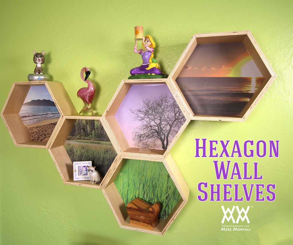 Hexagon Wall Shelves | Woodworking | Pinterest | Shelves ...