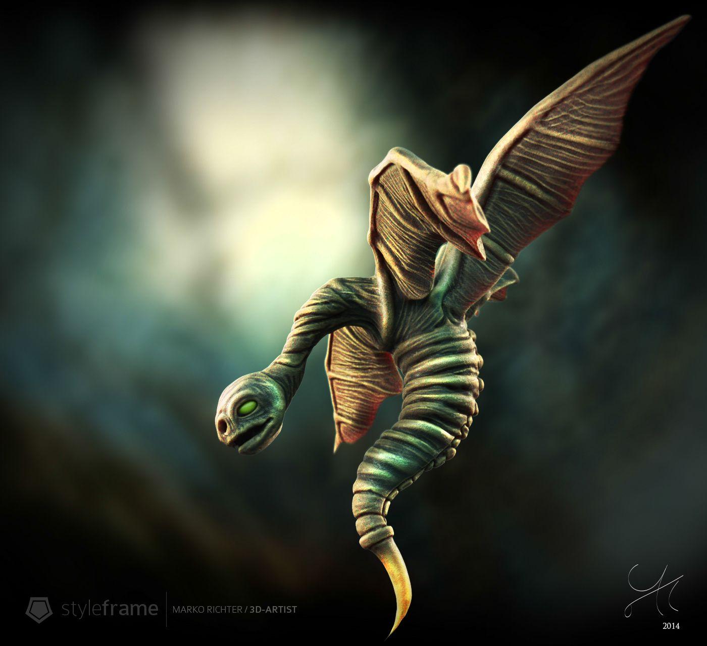 4 Winged Creature  #CharacterDesign #Creaturedesign #3D